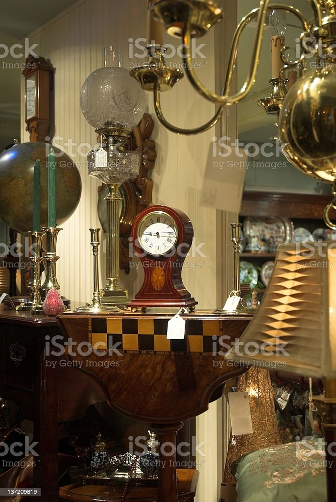 Antique Shop Window stock photo