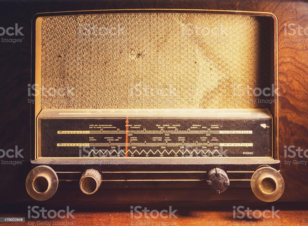 Antique Shortwave Radio Stock Photo - Download Image Now