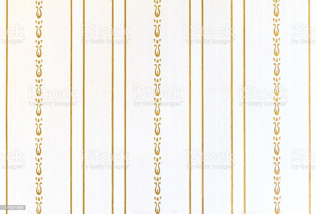 Antico Siclian Sfondo Di Carta Da Parati Righe Bianco E Oro