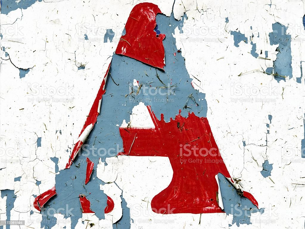 antique sign letter a royalty-free stock photo