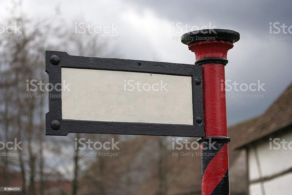 Antique sign stock photo