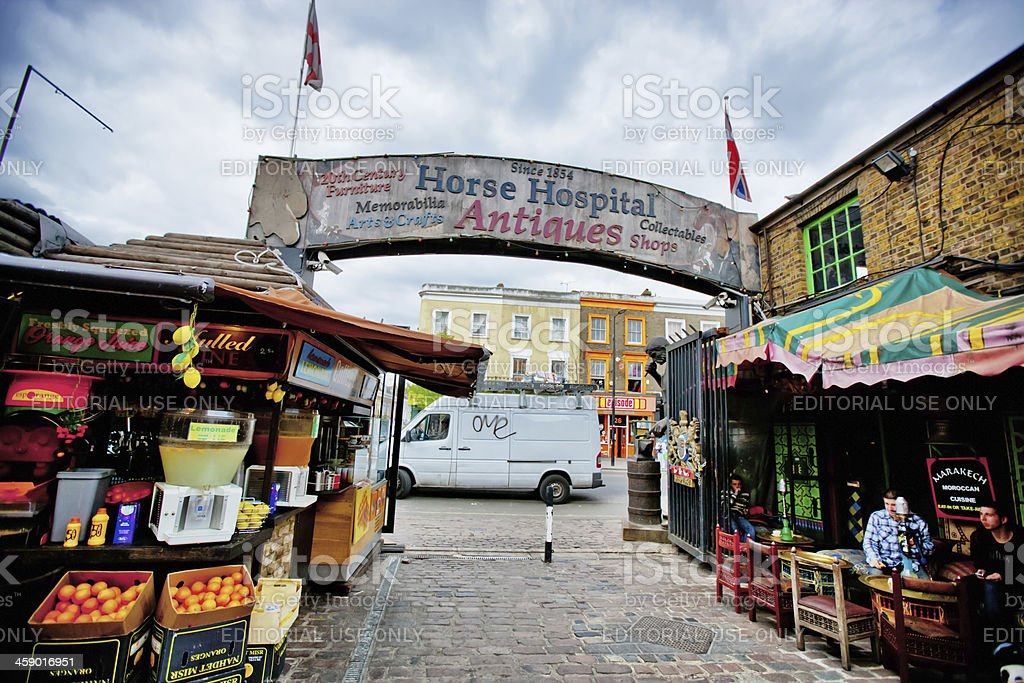 Antique Signboard  at Camden Town, London stock photo