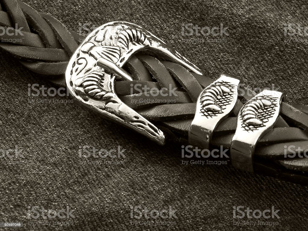 Antique Silver Buckle royalty-free stock photo