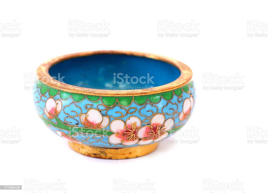 Antique Small Cloisonné Cup stock photo