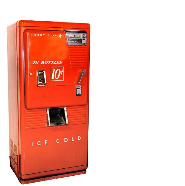 Antique soda vending machine stock photo