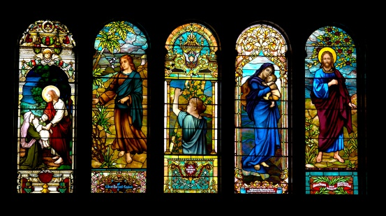 This window is in the sanctuary of the First United Methodist Church in Little Rock, Arkansas, USA. It, along with these windows, has been in place since 1900. Church officials today don't know who made the windows.
