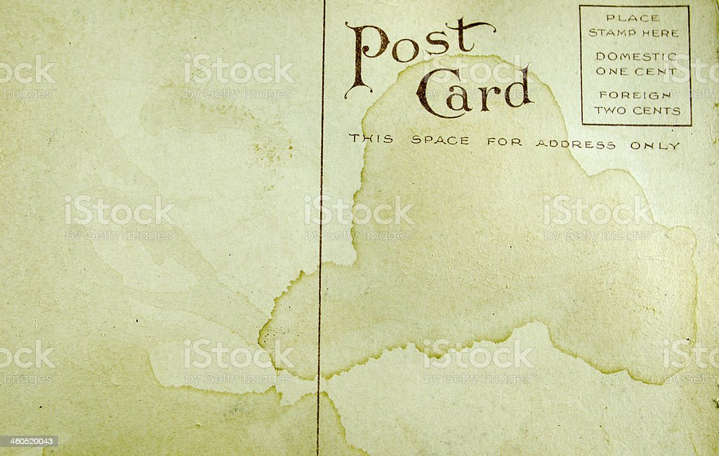 Antique  Stained Postcard royalty-free stock photo