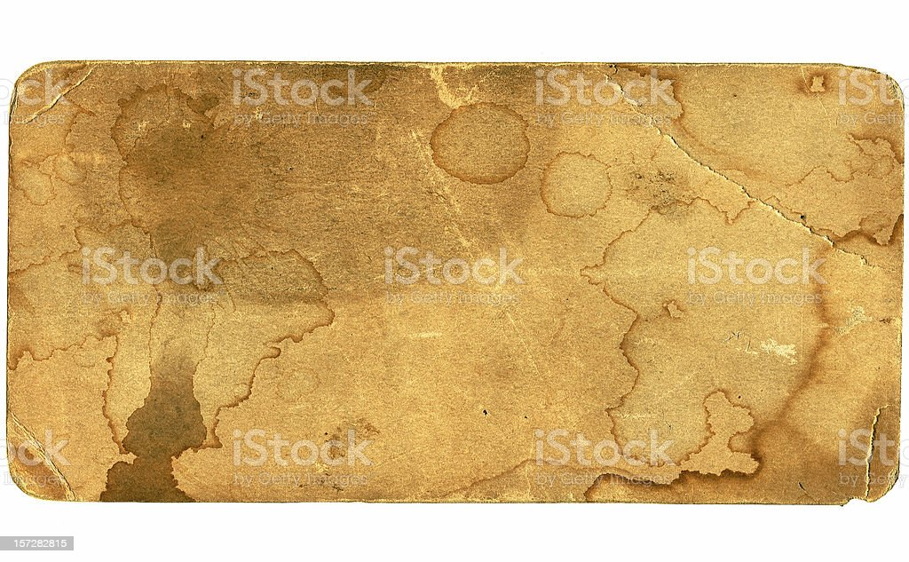Antique Stained Thick Cardback royalty-free stock photo