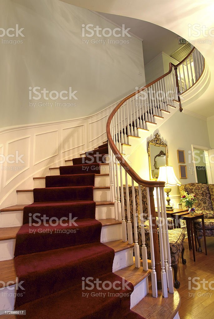 Antique Staircase royalty-free stock photo