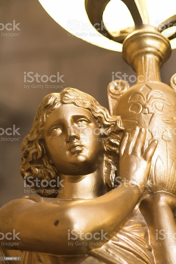 Antique  statue lamp royalty-free stock photo