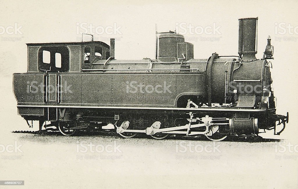 Antique steam locomotive royalty-free stock photo