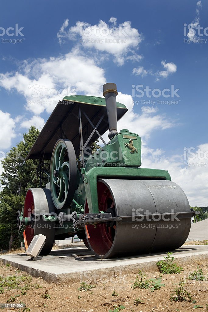 Antique Steamroller royalty-free stock photo