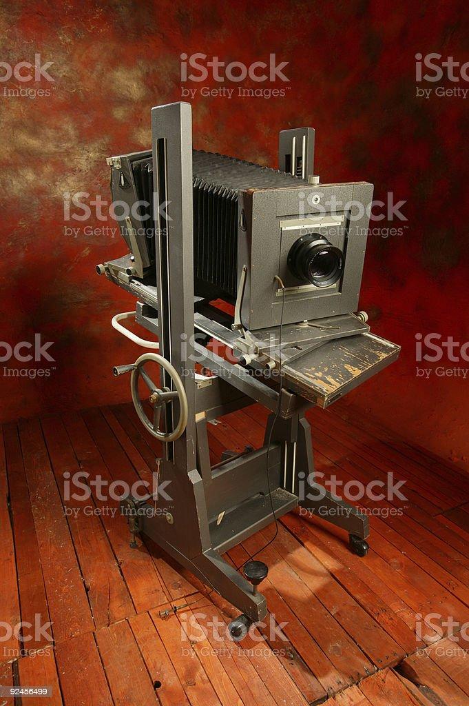 Antique studio camera stock photo