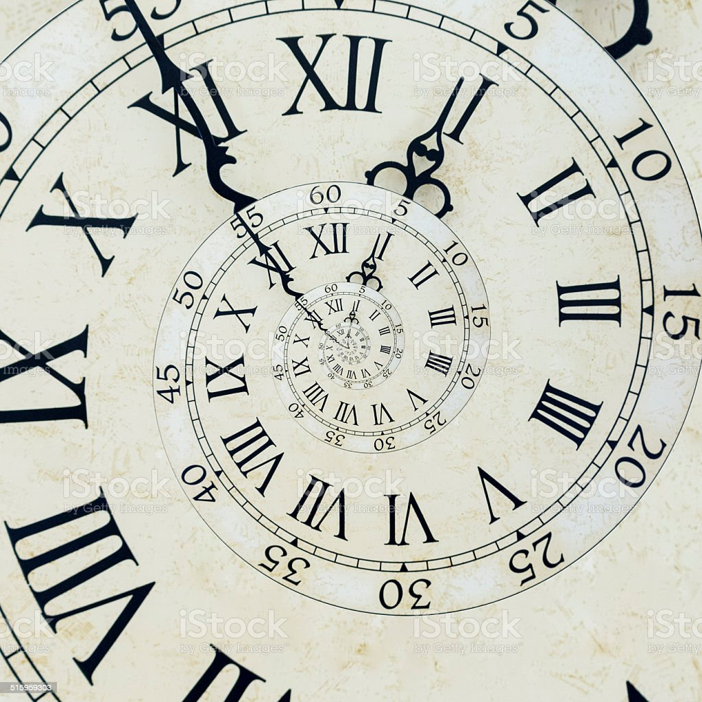 Antique style clock face stock photo