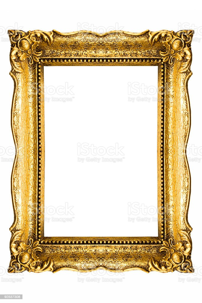 Antique style gold picture frame royalty-free stock photo