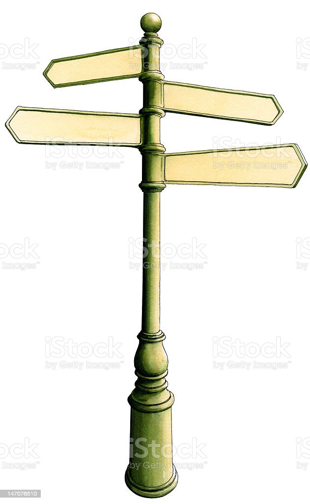 Antique Style Signpost 4 royalty-free stock photo