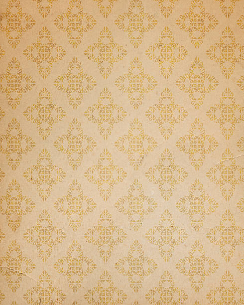 antique style wallpaper stock photo