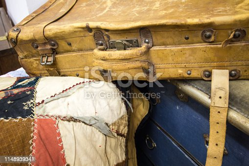 istock Antique Suitcase And Trunk 1148939341