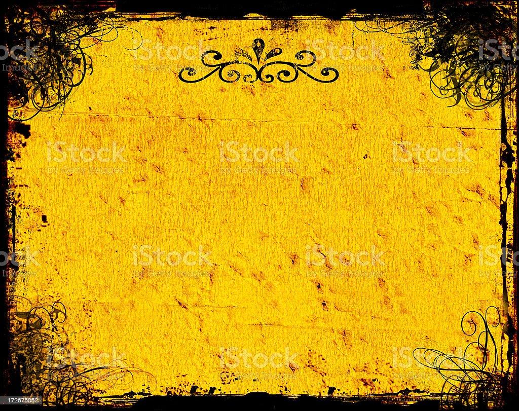 Antique Swirly Grunge 3 - Background stock photo