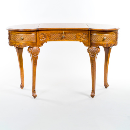 antique table on white background