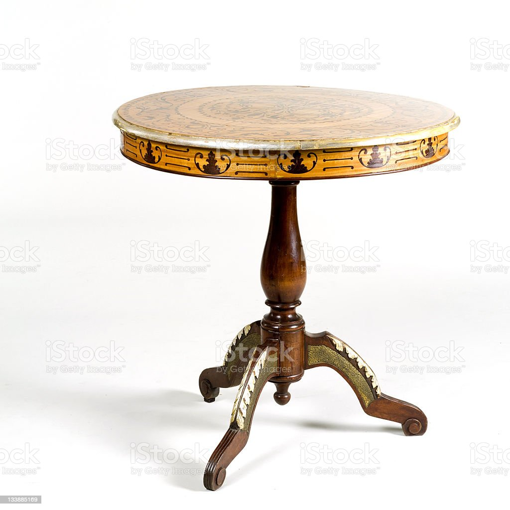 antique table royalty-free stock photo