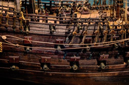 Antique Tall Ship Model