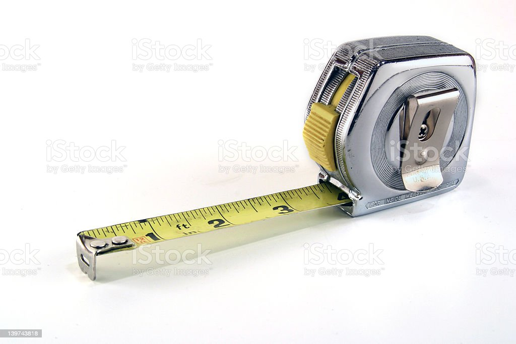 Antique Tape Measure stock photo