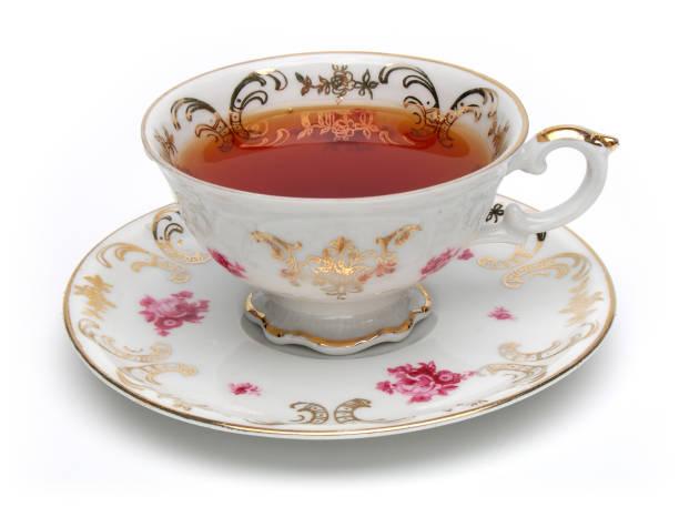 antieke tea cup - theekop stockfoto's en -beelden
