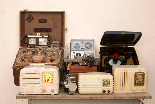 Antique Technology stock photo