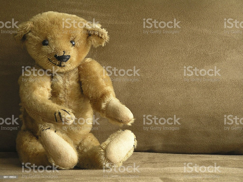 antique teddy bear royalty-free stock photo