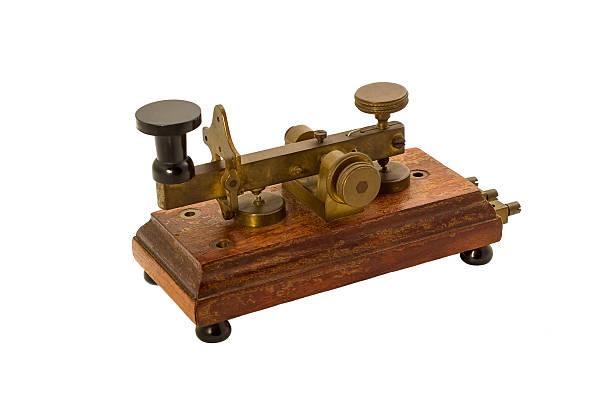 Antique telegraph isolé. - Photo