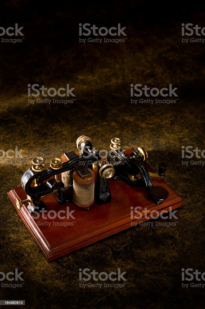 Antique Telegraph Machine stock photo