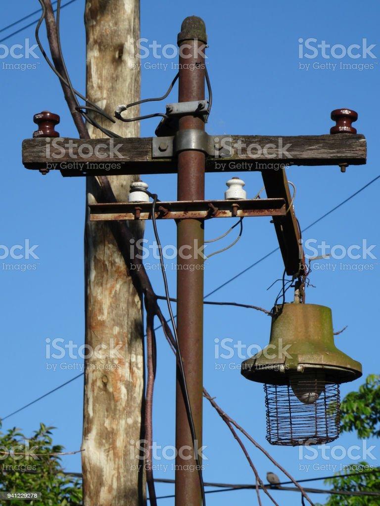 Fotografía de Antiguo Poste De Telégrafo Utilizado Como Una Lámpara ...