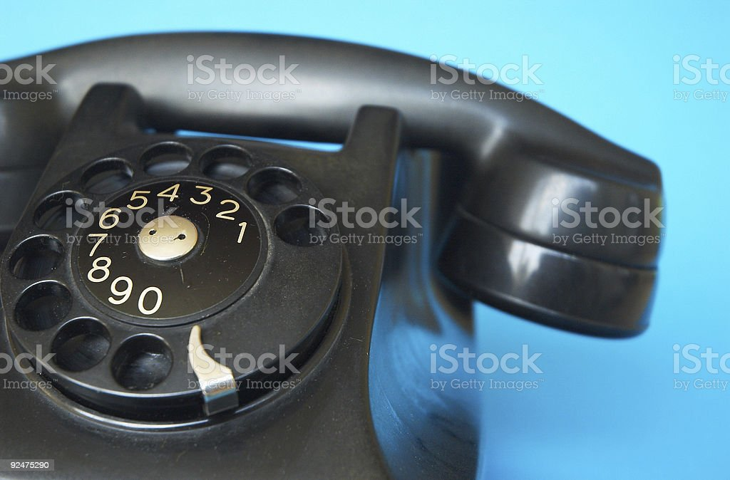 Antique telephone royalty-free stock photo
