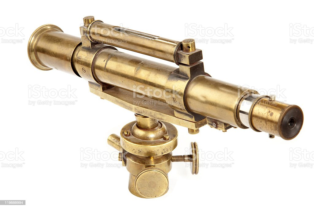 Antique telescope stock photo