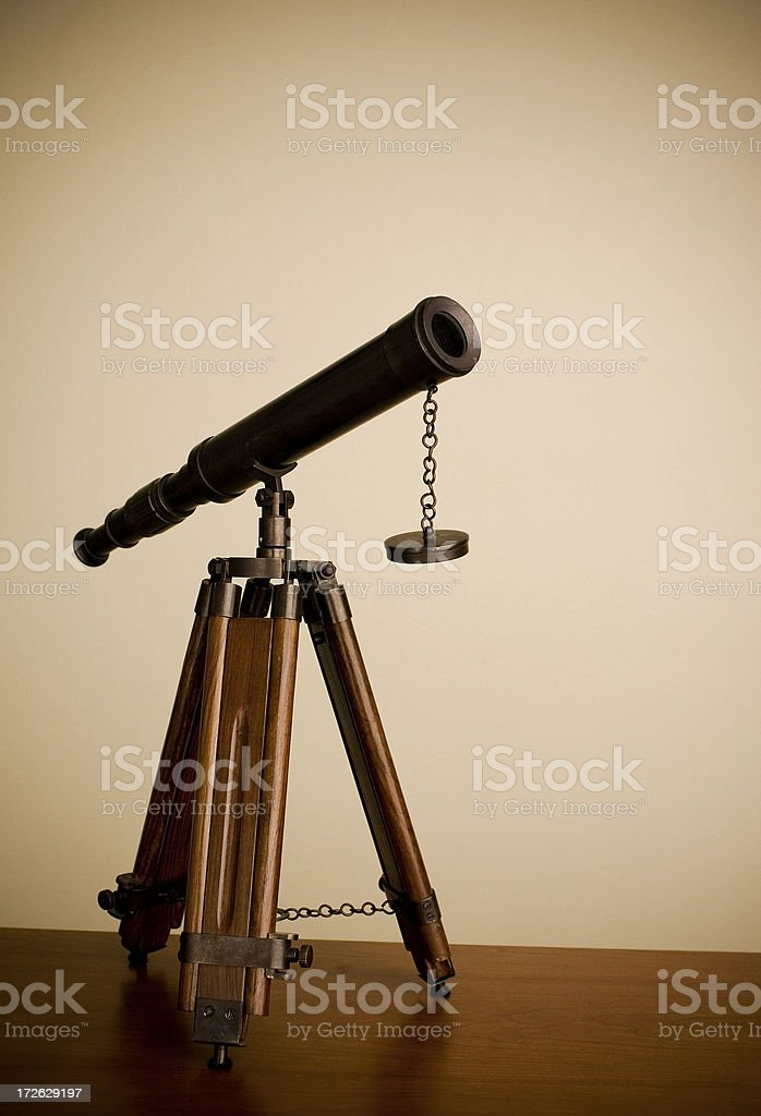 Antique Telescope royalty-free stock photo