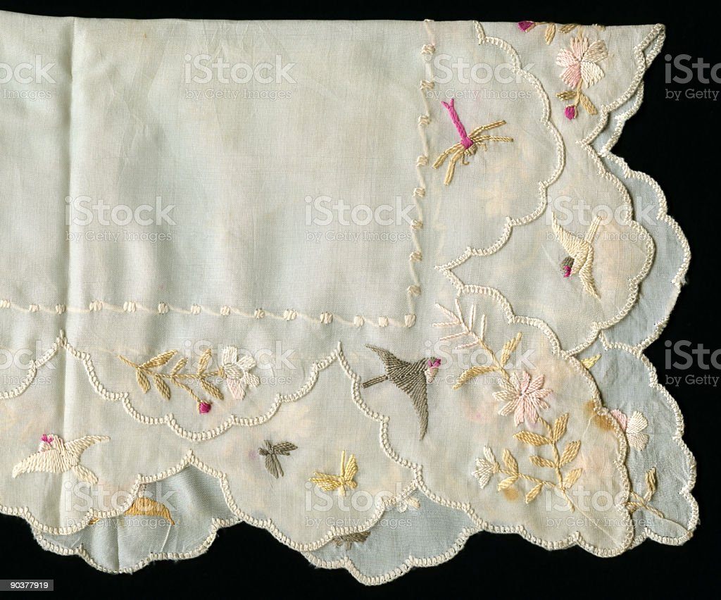 antique textile royalty-free stock photo