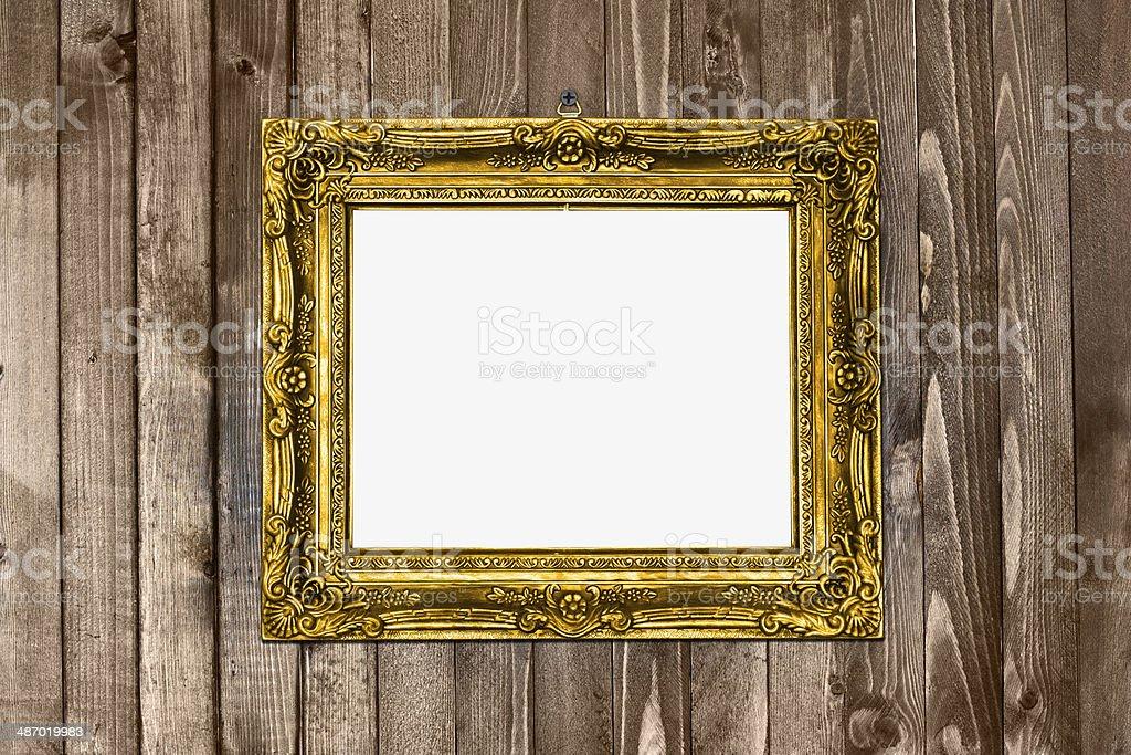 alte textur gold bilderrahmen h ngen holz wal stock fotografie und mehr bilder von alt istock. Black Bedroom Furniture Sets. Home Design Ideas