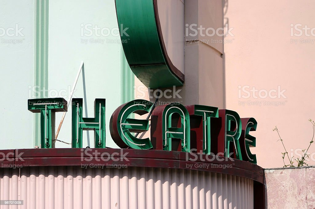 Antique Theatre Sign royalty-free stock photo