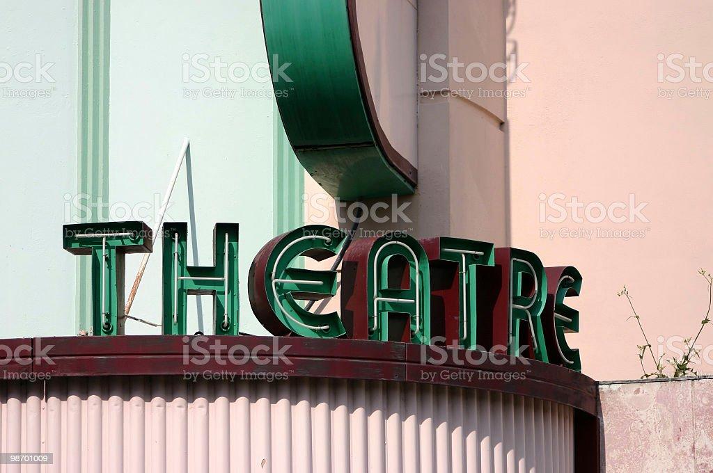 Antique Theatre Sign stock photo