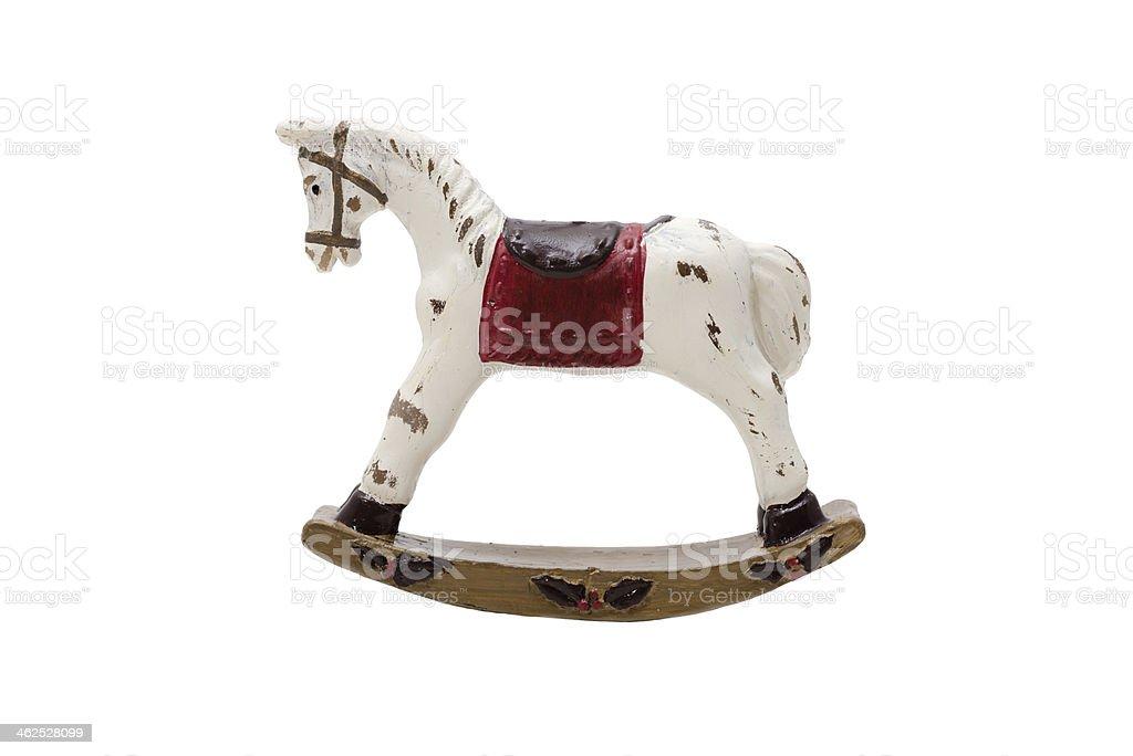 Antique toy rocking horse (XXXLarge) stock photo