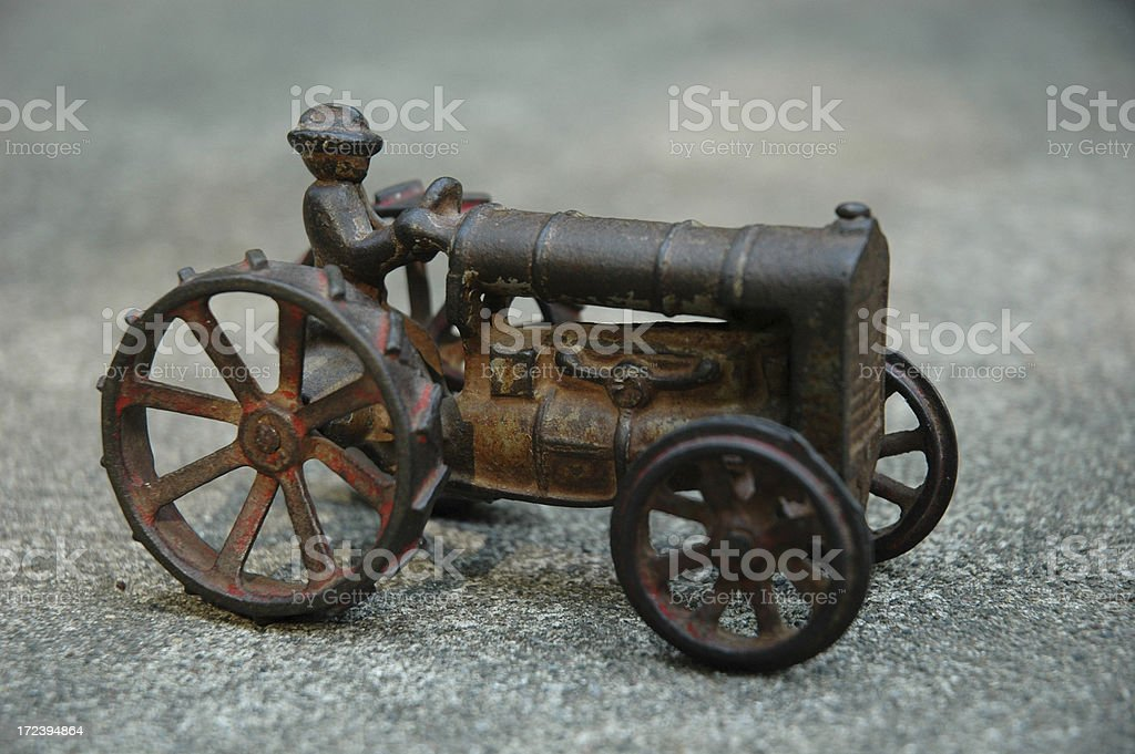 Antique Toy Tractor royalty-free stock photo