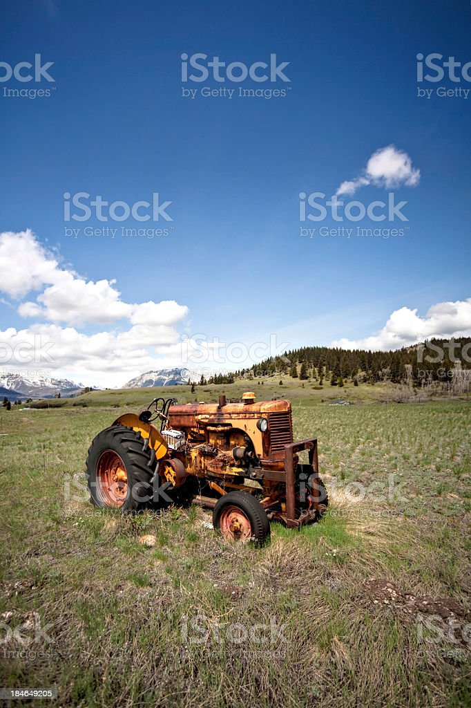 antique tractor royalty-free stock photo