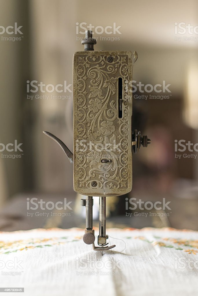 Antique treadle sewing machine royalty-free stock photo