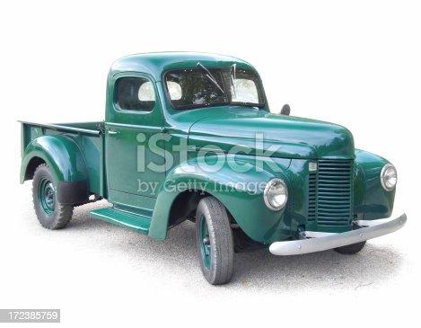 Antique Green Truck.