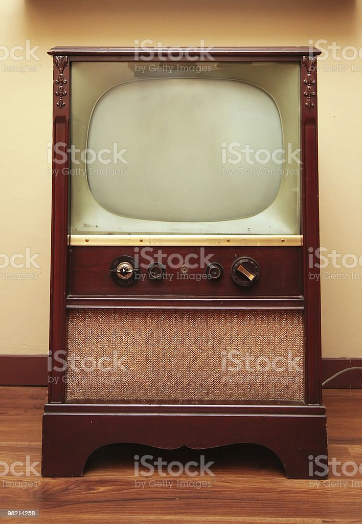 Antique TV royalty-free stock photo