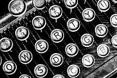 istock Antique Typewriter - An Antique Typewriter Showing Traditional QWERTY Keys I 1139358619