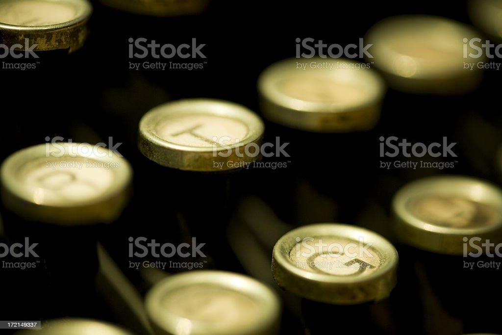 Antique Typewriter Closeup royalty-free stock photo