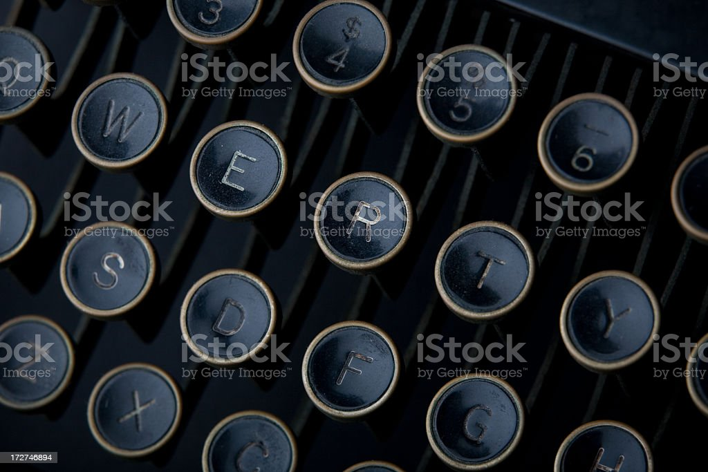 Antique Typewriter Keyboard royalty-free stock photo