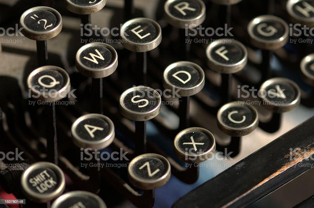 Antique Typewriter Keys stock photo